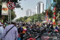 Polisi Sesalkan Parkir Liar Motor Massa Aksi di MK