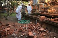 Pura Agung Lokanantha Rusak Akibat Gempa Bali