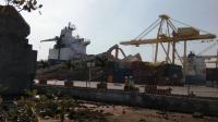 Kebakaran di Pelabuhan Semarang saat Potong Bangkai Crane