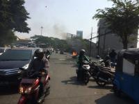 Sepeda Motor Terbakar di Jalan Jatibaru Tanah Abang
