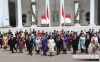Jokowi Beserta Kabinetnya Gelar Rakornas dengan Forkopimda di Sentul