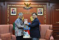 Menhan Prabowo Bahas Peningkatan Kerjasama Pendidikan dan Latihan dengan Dubes India