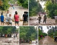Banjir Bandang Terjang Desa Poi di Sulteng