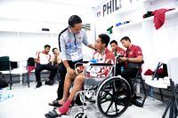 Evan Dimas Terpaksa Gunakan Kursi Roda di Upacara Pengalungan Medali SEA Games 2019