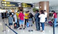 Antisipasi Virus Korona, Para Penumpang Diperiksa Petugas Bandara Supadio Kalbar