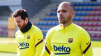 Barcelona vs Eibar, Braithwaite Kegirangan Bisa Main Bareng Messi