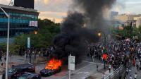 Protes Kebrutalan Polisi, Massa di Atlanta Serbu Gedung CNN