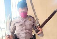 Bawa Golok di Depan Kantor Polisi, Pria Asal Klaten Ditangkap