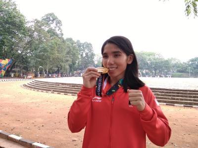Berawal dari Iseng, Billa Raih Emas Panjat Tebing Asian Games 2018