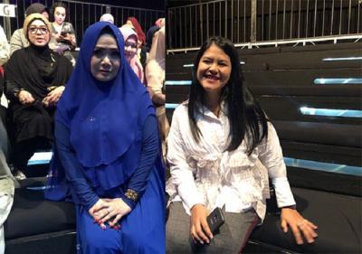 JFW 2019: Kahiyang Tampil Simple, Vina Panduwinata Beri Kejutan dengan Berhijab!
