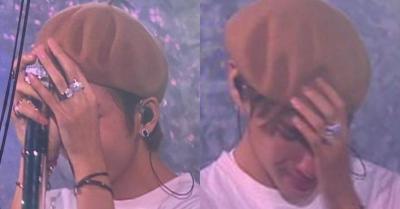 """Alasan V """"BTS"""" Keluarkan Air Mata saat Konser di Paris"""