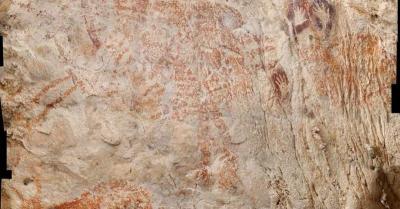 Lukisan Figuratif Tertua Ditemukan di Gua Borneo