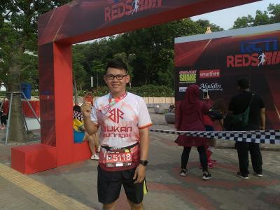 Peserta Puji Penyelenggaraan RCTI Reds Run 2018