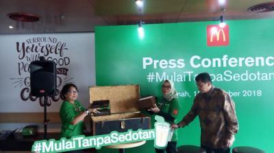 Kurangi Sampah Plastik, McDonald's Indonesia Canangkan Gerakan  Mulaitanpasedotan