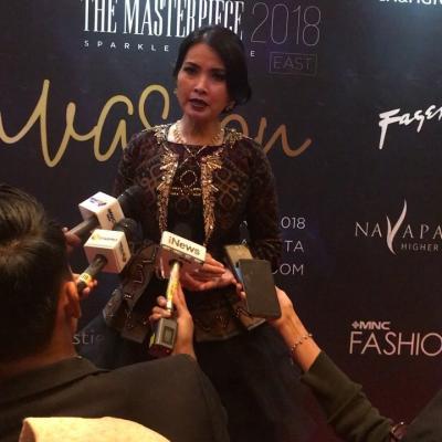 Dipakai Miss Indonesia, Liliana Tanoesoedibjo Pamerkan Gaun Cantik di I Fashion Festival