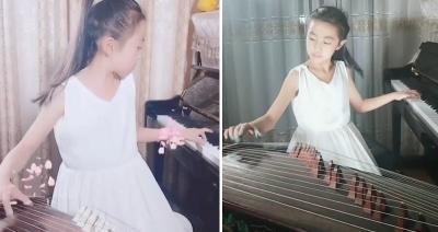 Hebat, Gadis 9 Tahun Ini Jago Main Piano & Kecapi China Bersamaan!