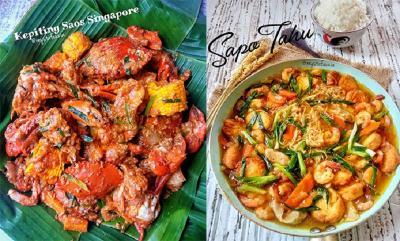 Makan Malam Enaknya Santap Kepiting Saus Singapore dan Sapo Tahu, Endes Banget!