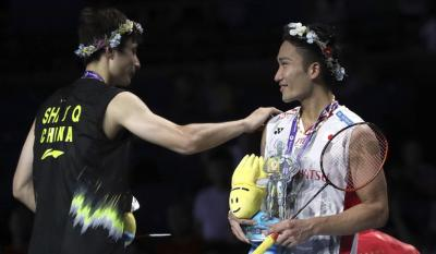 Bertemu di Final BWF World Tour 2018, Ini Rekor Pertemuan Momota vs Shi Yuqi