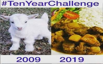 Begini kalau Makanan Ikutan 10 Years Challenge, Nomor 5 Gokil
