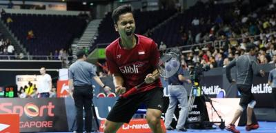 Anthony Ginting Komentari Persaingan di Superliga Badminton 2019