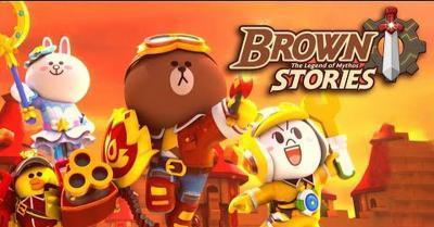 Karakter Beruang Cokelat Nongol di Game RPG Line Brown Stories