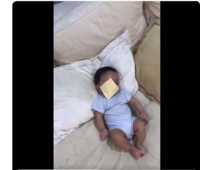 Tantangan Orangtua Lempar Keju ke Wajah Bayi, Netizen Sebut Jahat!