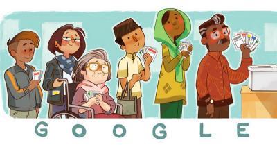 Usung Tema Pemilu, Google Doodle Rayakan 'Indonesia Elections 2019'