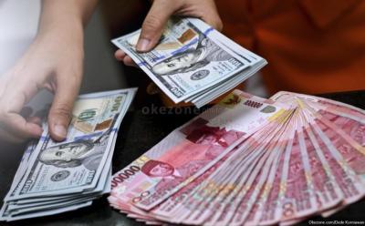 Dolar AS Perkasa, Rupiah Melemah Tipis ke Rp14.455 USD