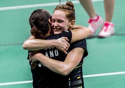 Kegembiraan Inggris Usai Taklukkan Denmark di Piala Sudirman 2019