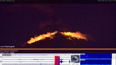 Gunung Agung Erupsi, Lontarkan Batu Pijar Sejauh 3 Kilometer ke Segala Arah