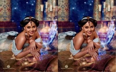 Cantiknya Aurel Hermansyah Berpenampilan Bak Putri Jasmine di Film Aladdin