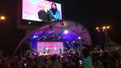 Salam Kilau Ramadan MNCTV, Sabyan Sapa Penggemar di Tangsel