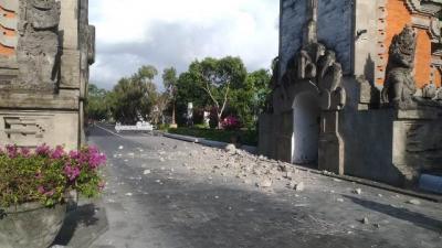 Gempa Bali Turut Merusak Kantor BMKG dan Rumah Ibadah