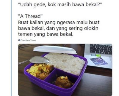 Kisah Netizen Tetap Bawa Bekal Makanan Meski Sudah Dewasa, Jangan Malu!