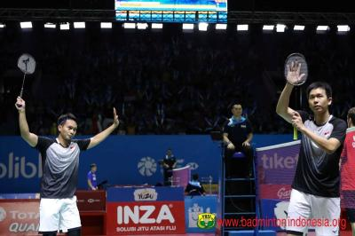 Intip Peluang Ahsan Hendra untuk Lolos ke Final Indonesia Open 2019