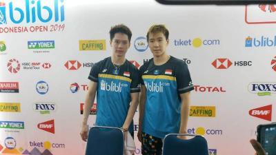 Hadapi Li Liu di Semifinal Indonesia Open, Marcus Kevin Diuntungkan Rekor Pertemuan