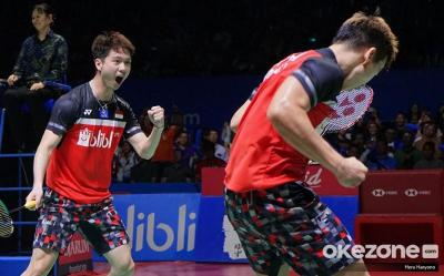 Usai Final Indonesia Open 2019, Kevin Puji Kemampuan Netting Hendra