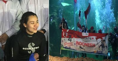 Aaliyah Massaid Beberkan Alasan Tawaran Kibarkan Bendera di Bawah Laut