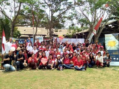 MNC Group Rayakan Kemerdekaan di TPA Rawa Kucing