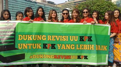 OTT Dinilai Bikin Gaduh, Sejumlah Mahasiswi Dukung Revisi UU KPK