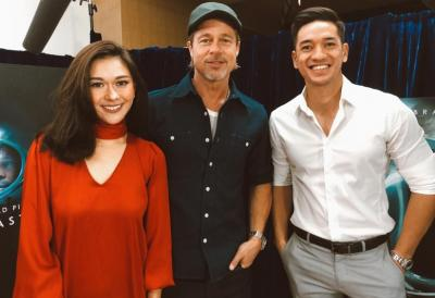 Nana Mirdad dan Andrew White Wawancara Brad Pitt di Jepang