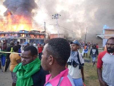 Demo Pelajar di Wamena Papua Rusuh, Massa Bakar Kantor Pemerintah dan Rumah