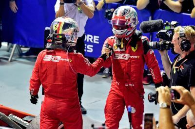 Ferrari Bantah Lakukan Team Order di F1 GP Singapura 2019