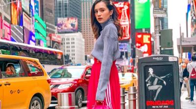 Mengulik Harga Outfit Balenciaga Beby Tsabina saat Liburan di New York