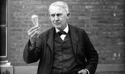 Peristiwa 18 Oktober : Penemu Lampu Listrik Thomas Alva Edison Wafat