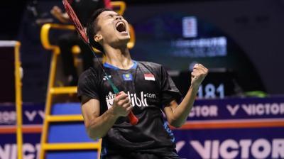 Taklukkan Ka Long Angus, Anthony Ginting Lolos ke 16 Besar Hong Kong Open 2019