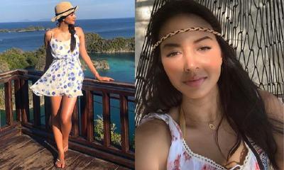 Pesona Aurelie Moeremans Bergaya Feminin di Raja Ampat, Bikin Jatuh Hati!