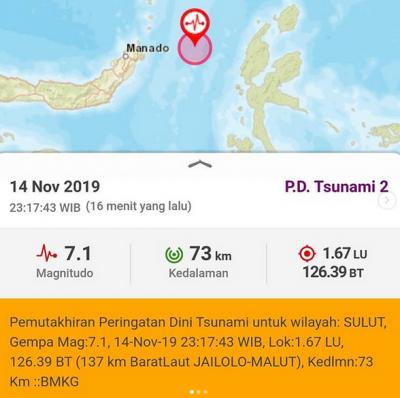 Gempa M 7,1 di Maluku Utara, BMKG Belum Cabut Peringatan Tsunami