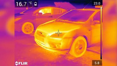 Kamera Pendeteksi Panas, Tunjukkan Beda Efisiensi Mobil Listrik dengan Konvensional