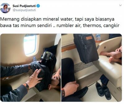 Susi Pudjiastuti Posting Tolak Botol Plastik, Netizen Ini Malah Curhat Diamuk Istri